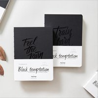 Wholesale quot Black Temptation quot Sketchbook Notebook Blank Papers Diary Pocket Journal School Study Notepad Memo
