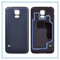 ingrosso copertura posteriore in oro s5-Di alta qualità Nuova sostituzione coperchio posteriore Porta alloggiamento batteria per Samsung Galaxy S5 SV I9600 G900 con anello in gomma bianco nero blu oro