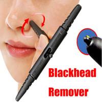 removedor de espinillas de la nariz al por mayor-Nueva práctica Extractor Stick 2 Tamaño final Herramienta para el cuidado de la piel Nose Blackhead Remover Acne Pore Cleaner Pen
