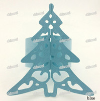 Wholesale Ring Clips For Paper - Wholesale- Christmas tree gift Paper Napkin Rings Wrap clip towel table Decoration For Wedding Party Event restaurant hotel