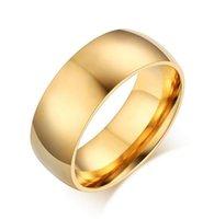 Wholesale Custom Rings China - Wholesale Custom Simple Stainless Steel Gold Wedding Rings For Men