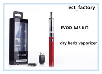 Wholesale Dry Electronic Cigar - E cigarette evod Cloupor M3 blister kit ego evod battery pyrex glass for wax and dry herb vaporizer vapor M3 tank Electronic cigar