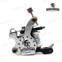 Wholesale Dragonhawk Tattoo - Body Art Tattoo Guns Tattoo Gun Dragonhawk Tattoo Machine Premium Iron 10 Wrap Shader and Liner WQ4874 & WQ4875