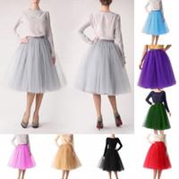 Wholesale Tutu Skirt Full Purple - 18 Colors In Stock 5 Hoops Ball Gown Bridal Petticoats Full Puffy Petticoats Wedding Skirts Slip New Tutu Skirts CPA583