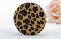 Wholesale Hot Acessories Wholesale - Hot Fashion Makeup Cosmetic Round Loose Powder Puff Face Body Large Size Leopard Beauty Makeup Acessories