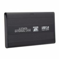 caso hdd de 3,5 polegadas venda por atacado-Venda por atacado - 1 conjunto de profissionais de 2.5 polegadas SATA HDD caixa de disco rígido USB 3.0 HDD disco rígido SATA armazenamento externo de alta velocidade caixa de gabinete HDD conjunto de casos