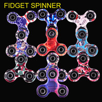 Multicolor triangle fidget spinner - Camouflage Fidget Spinner Triangle Tri Spinner EDC Toys For Autism And ADHD Children DecompressionToys Tri Spinner Hand Spinners oth429