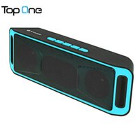 Wholesale free music player pc - Wholesale- SAMSBO S160 Rectangle Bluetooth Speaker Music FM Player AUX Hands-free Calls with Super Bass Stereo Sound for Mobile Phone PC