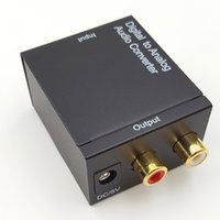 Digital zu Analog Audio Konverter Adapter Digital Adaptador Optisches Koaxial RCA Toslink Signal zu Analog Audio Konverter RCA
