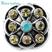 Wholesale tv wholesaler china - Hot wholesale High quality 18mm Metal Snap Button Charm Rhinestone Styles Button Ginger Snaps Jewelry