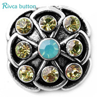 Barato Atacado Metal Encantos China-Hot wholesale Alta qualidade 18mm Metal Snap Button Charm Rhinestone Styles Button Ginger Snaps Jewelry