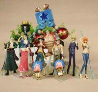 ingrosso set di anime figurines-10 pezzi / set One Piece Figurine Collection 2 ANNI DOPO Rufy Nami Zoro Sanji Anime giapponese Cartoon Doll Toys