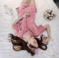 sparkle services - Summer new comfortable breathable sparkling ice silk sexy sleep wear women three suit home service ladies