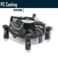 Wholesale I7 Lga 1155 - Wholesale- ALSEYE GH1156-i7 CPU Cooler, Aluminum Heat with 90mm CPU fan for i3 i5 i7 LGA 1156 1155 1150 12v cooling fan dissipater