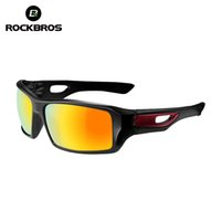 Wholesale Rockbros Polarized Sunglasses - Wholesale- ROCKBROS Cycling Bike Polarized Glasses Riding Protection Bicycle Goggles Driving Eyewear Outdoor Sports Sunglasses 4 Colors