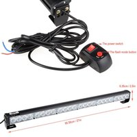 Wholesale traffic strobe lights - 24 LED Hazard Emergency Warning Tow Traffic Advisor Flash Strobe Light Bar