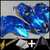 Wholesale Hayabusa Aftermarket Fairings - Aftermarket Plastic GSX1300R 1999 2000 2001 2002 2003 2004 2005 2006 2007 Body Kit Fairing for Suzuki GSX1300R BLUE Hayabusa 99 00 01 02 03