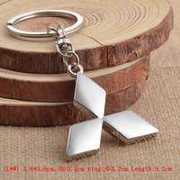halter mitsubishi großhandel-Großhandel 3D Metall Auto Logo Schlüsselanhänger Schlüsselanhänger Ring für mitsubishi asx outlander lancer Chaveiro Llavero Schlüsselhalter Auto-Styling