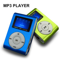 Wholesale gift mp3 clip - Wholesale- New Mini LCD Screen Mp3 Player Multi-color Metal Clip Mp3 Music Player Fashionable Gift With Micro TF SD Card Slot Electronic
