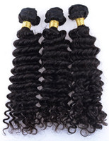 3Bundles 100g / pcs Deep Wave Brazilian Virgin Hair Weave Cheap Deep Curl Remy Extensions de cheveux humains brésiliennes