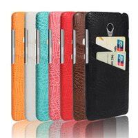 Wholesale lenovo mobiles covers - Mobile phone accessory PU Leather case for lenovo vibe p1 Crocodile PC back cover with card slot
