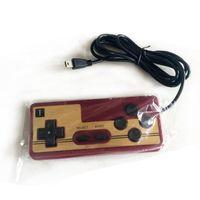 manejar consolas de juegos al por mayor-8 bits Game Gaming con cable Controlador PAD Gamepad FC Consola del sistema Classic Style 1.5 metros mango