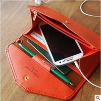 Wholesale 12 Compartment Wholesale - Good Quality Long Phone Package Wallets Large Capacity Small Envelope Bag Hot Selling Multiple Passport Package Purse 12 Style