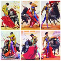 spanish artists - Skilled Artist Handmade High Quality Abstract Bullfight Oil Painting on Canvas Abstract Spanish Bullfight Painting Art for Wall