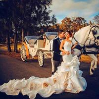 robes de porcelaine ivoire achat en gros de-2019 robes de mariage Ivoire gaine gaine de la Chine sirène train robe de mariage cathédrale occasion spéciale Appliques robe de mariée