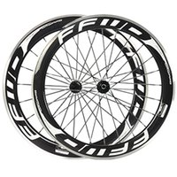 Compra Decalcomanie Ruote Moto-60mm FFWD Fast Forward White Decals Rotelle in carbonio con superficie in lega Superficie 3K Clincher Wheelset Novatec 271/372 Hub