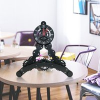 Wholesale Wholesale Eiffel Tower Table Decorations - Eiffel Tower Decoration Gear Clocks Moving Gear Desk Table Clock Living Room Mechanical And Electronics Home Decor