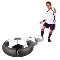 Wholesale Disk Ball - Hover Ball LED Kids Air Power Soccer Football Children Toys LED Light Light Up Indoor Outdoor Disk Ball Retailpackagel