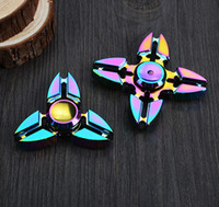 Wholesale Rainbow Fidget Spinner Colorful Crab HandSpinner Finger EDC Toy For Decompression Anxiety Metal EDC Hand Spinner Toy