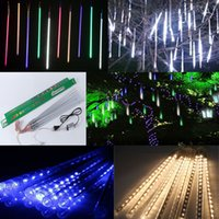 Wholesale Light Singing - 80cm LED fairy Garden LED fairy lights Meteor Ice tube colorful neon sings for festival decoration