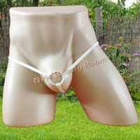 Wholesale Erotic Toys - Mens Silicone Cock Ring G-Strings Thongs open crotch Gay Underwear Panties Briefs Tangas T back erotic Lingerie Sexy Toys