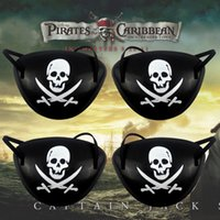 Wholesale Pirate Favor Bags - Pirate Eye Patch and pirates hats Skull Crossbone Halloween Party Favor Bag Costume Kids Halloween Toy Craft Gifts