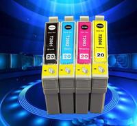 принтер epson xp оптовых-Картридж мода новый совместимый картридж T2001 T2002 T2003 T2004 для Epson XP-200 300 400 WF-2530 2520 2540 принтер