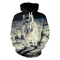 galáxia do harajuku moletom com capuz venda por atacado-DHL Nova Chegada Dos Homens Hoodies Com Capuz 3D Hoody Galaxy Astronauta Imprimir Camisola Harajuku Com Capuz Pullover Homme Casal