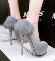 Wholesale united states shoes for sale - Group buy Europe and the United States leather high heeled shoes with ultra fine shoes sexy female single shoes