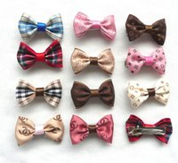 Wholesale Ribbon For Dogs Hair Wholesale - 50PC Lot Handmade Dog Hair Bows Clips Ribbon Dog Hairpin For Pet Grooming Accessories Mix Styles