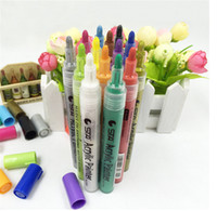 marqueurs d'encre achat en gros de-STA Stylo Marqueur Acrylique Peintre Marqueur À Base D'eau Encre Pigment Encre À L'Eau Couleur Crayon Paint Marker 14 Couleurs new