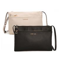 Wholesale Double Flap Purse - Wholesale- Hot Sale Double Zipper Women Envelope Bag Fashion Shoulder Bags Logo Women Messenger Bag Purse Handbags Famous Brands Clutch