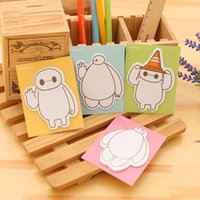 Wholesale Sticky Pad Big - Wholesale- 1PC Kawaii Big Hero 6 Baymax Memo Pad Post-it Sticky Bookmark Cute Stationery Superstar Quality Office School Supplies 12.8*7cm