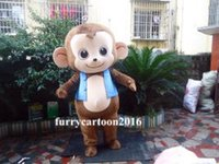 Wholesale Monkey Adult Mascot - big monkey mascot costume cartoon character cosply adult size carnival costume and free shipping