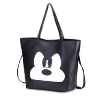 Wholesale Mouse Cross - New Fashion Women Cross package lady long purse Satchel Cross body Cartoon Mickey Mouse bags PU Leather Hang Messenger Shoulder Bags