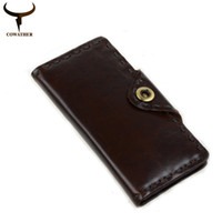 c8dd5b34d4cfb Wholesale- COWATHER 2017 New fashion cow genuine leather mens wallets for  men