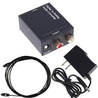 ses dts toptan satış-Koaksiyel Spdif veya Toslink Optik Dijital Analog L / R RCA Ses Dönüştürücü Dönüştürücü Adaptörü 5.1 Kanal Stereo AC3 / DTS