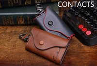 Key Wallets Unisex Fashion CONTACT'S 2017 New Men's Genuine Cow Leather Bag Car Key Wallets Fashion Women Housekeeper Holders Carteira 1004H Free Shipping