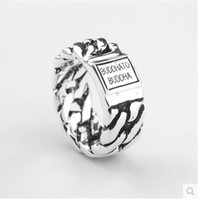 Wholesale Netherlands Gifts - Classic Style Netherlands Ring Brand TO Buddha 925 sterling silver Ring Jewelry Fashion Ring for Men Christmas gift