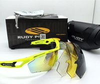 Wholesale Rudy Glasses - New 4 Lenses Brand Designer Fashion Polarized Rudy Sunglasses Project TRALYX Glasses Outdoor UV400 Sports Riding Cycling Bicycle Sun Glasses